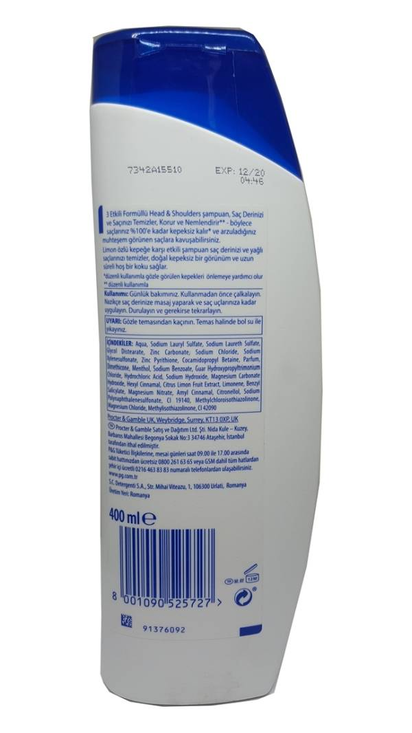 head and shoulders shampoo 400ml-alliance-0104